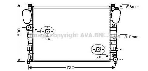 MSA2306 Радиатор системы охлаждения MERCEDES-BENZ: S-CLASS (W220) S 320 (220.065, 220.165)/S 350 (220.067, 220.167)/S 350 4-mati