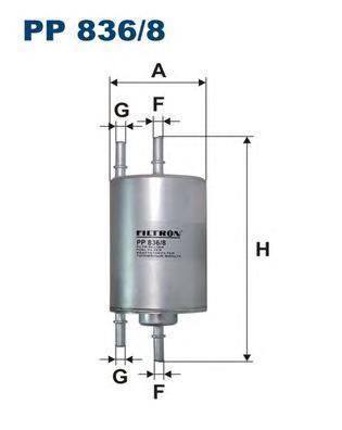 PP8368 Фильтр топливный AUDI A4/SEAT EXEO 1.8 T 00-