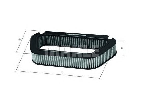 LAK176 Фильтр салона AUDI A8 10/02- угольный