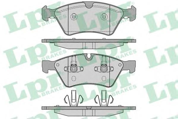 05P1253 Колодки тормозные дисковые передн MERCEDES-BENZ: M-CLASS 05-, R-CLASS 06-