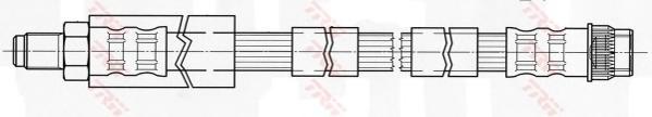 PHB431 Шланг тормозной CITROEN C4 04-/PEUGEOT 307 00- передний