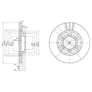 BG2561 Диск тормозной Fr Mits L200/300