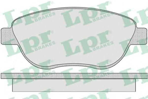 05P807 Колодки тормозные CITROEN C4/BERLINGO/FIAT DOBLO/PEUGEOT 307/PARTNER передние
