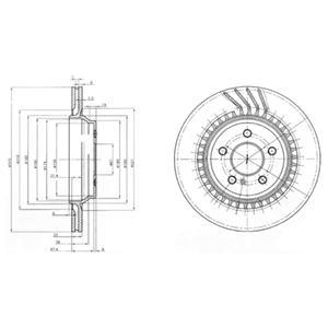 BG3727 Тормозной диск 2шт в упаковке