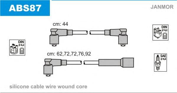 ABS87 Комплект проводов в/в VAG 5цил -84
