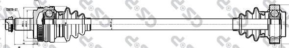 205033 Привод в сборе BMW 1 E87 1.8D 03-12 зад.прав. +ABS