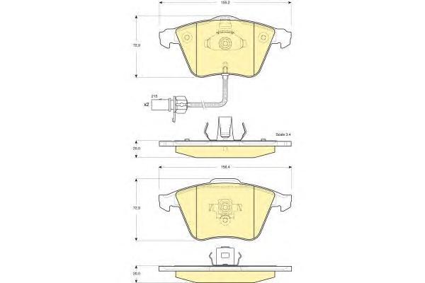 6116172 Колодки тормозные AUDI A4/A6/A8 2.0-6.0 03- передние