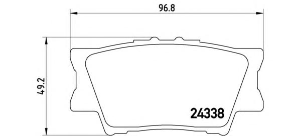 P83089 Колодки тормозные TOYOTA RAV 4 06/CAMRY 2.4/3.5 06 задние