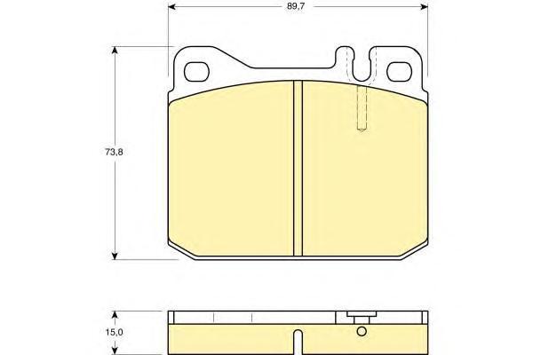 6102422 Колодки тормозные MERCEDES W116/W123 72-85 передние