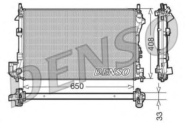 DRM20087 Радиатор охл. ДВС FI Croma, OP Signum, Vectra C