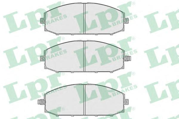 05P845 Колодки тормозные NISSAN PATROL 2.8D-4.2D 97-10 передние
