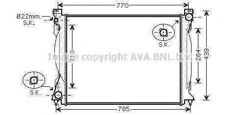 AI2235 Радиатор VAG A6 2.7TD/3.0TD M/T 04-