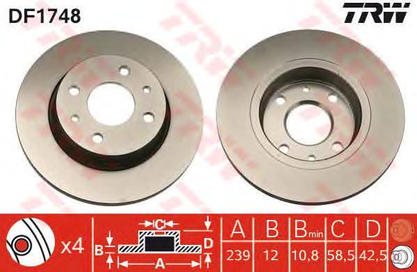 df1748 Тормозной диск