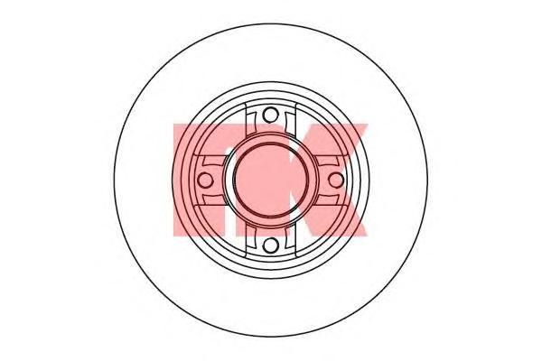 203937 Диск тормозной RENAULT CLIO III 05-/MEGANE II 02- задний без подшипника
