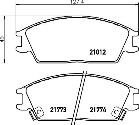 8DB355006271 Колодки тормозные HYUNDAI ACCENT/GETZ передние