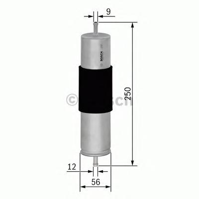 F026402068 Фильтр топливный AUDI A4/A5/A8/Q5/Q7 2.0-3.0 TDI 07-