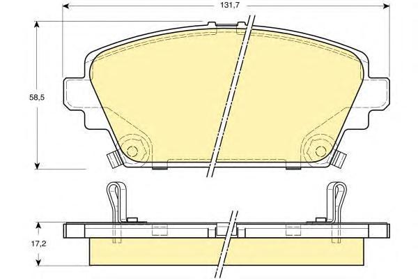 6131861 Колодки тормозные HONDA ACCORD 1.8/2.0 9903 передние
