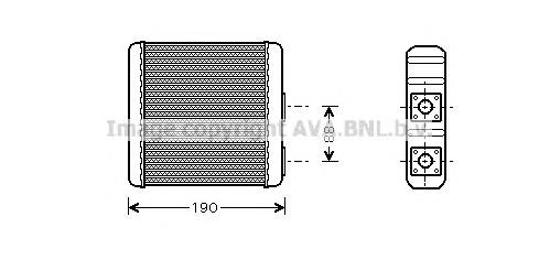 DN6133 Радиатор отопителя NISSAN MICRA 1.0-1.3 /ALMERA 1.4-2.0/2.0D 82-00/95-00