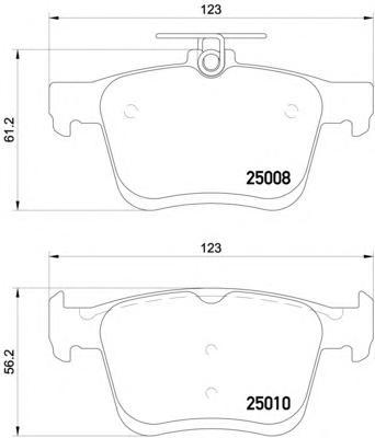 P85125 Колодки тормозные AUDI A3/VW GOLF VII 12- задние