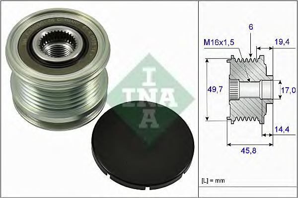535016810 Муфта свободного хода MB W204/212/639/SPRINTER 1.6-2.2D 03-