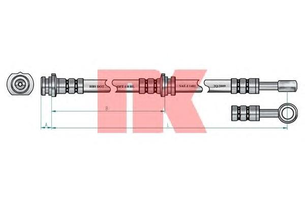 852253 Шланг тормозной NISSAN PRIMERA (P11) 96-02 с АБС задний левый