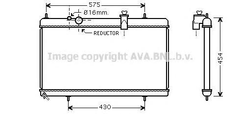 PEA2256 Радиатор CITROEN C5 3.0 04-