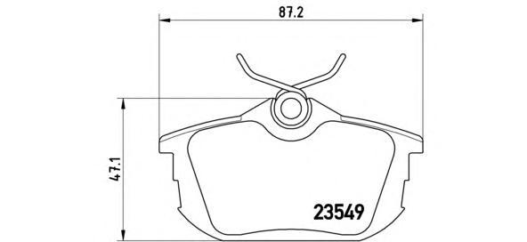 P54023 Колодки тормозные MITSUBISHI COLT 04/SMART FORFOUR 05/VOLVO S40/V40 задние