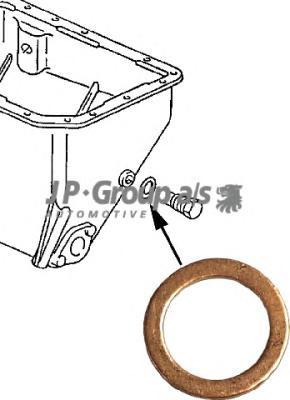 8113850100 Прокладка сливного болта масляного поддона (14x20mm) / VAG,Opel