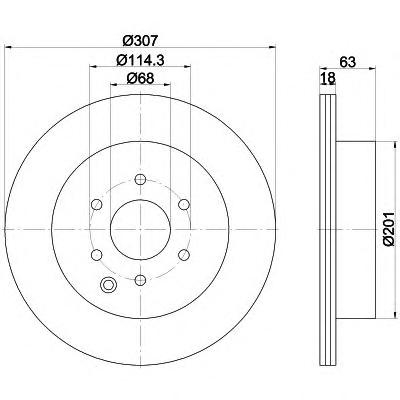 8DD355115851 Диск тормозной NISSAN PATHFINDER 05/NAVARA 05 задний