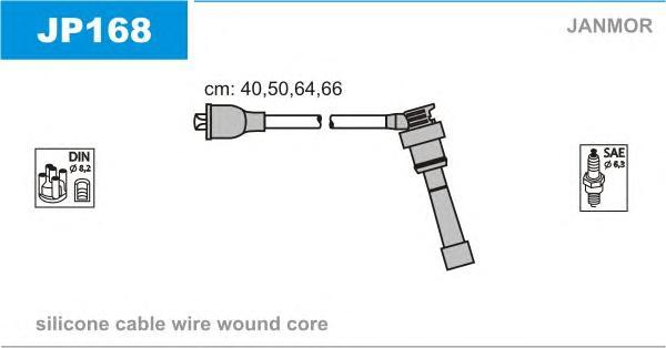 JP168 Комплект проводов зажигания MITSUBISHI: COLT IV 92-96, LANCER IV 88-94, LANCER V 92-95