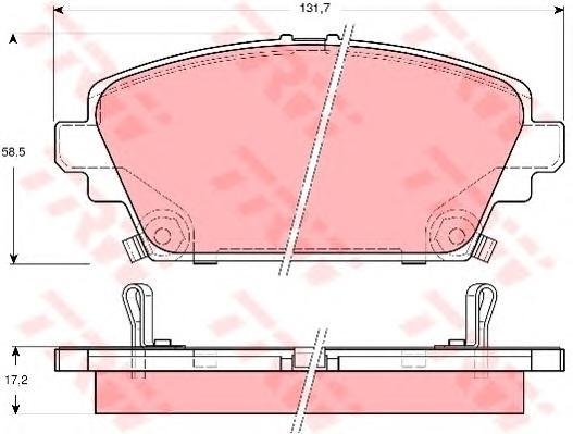 GDB3186 Колодки тормозные HONDA ACCORD 1.8/2.0 9903 передние
