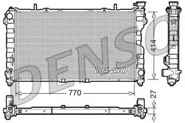 DRM06011 Радиатор двигателя CHRYSLER VOYAGER (00-08)/CARAVAN (00-08)/
