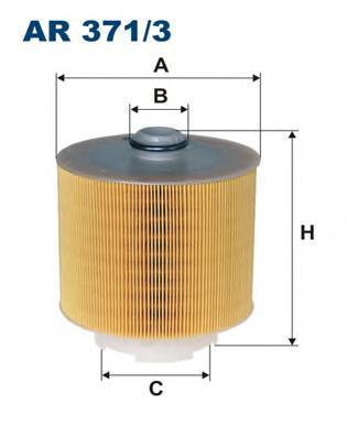 AR3713 Фильтр воздушный AUDI A6 3.0TDI 04-