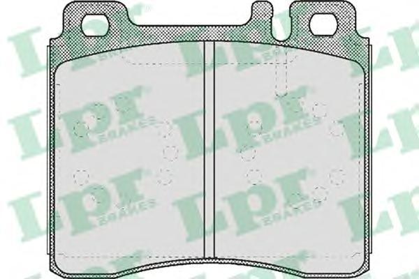 05P446 Колодки тормозные MERCEDES W140 9198 передние