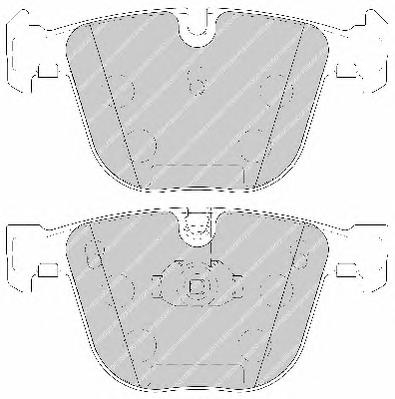 FDB1672 Колодки тормозные BMW E60/E61/E65/E66/E70/E71 задние