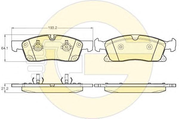 6119462 Колодки тормозные MERCEDES-BENZ ML W166 250-350 11- передние