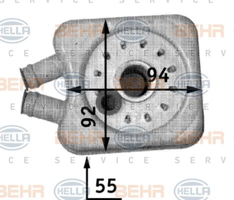 8MO376726221 Радиатор масляный VAG A4/A6/A8 1.8-2.6 97-01 /FORD GALAXY 90-06