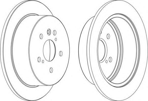 DDF1545 Диск тормозной LEXUS RX300/RX330/RX350/RX400H задний