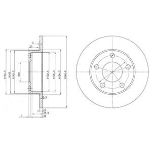 BG2520 Диск тормозной AUDI 100/200 83-91/A8 94-00 задний D=245мм.