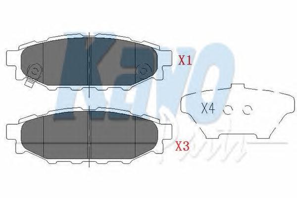 KBP8005 Колодки тормозные SUBARU LEGACY 03/OUTBACK 03 2.0/2.5 задние