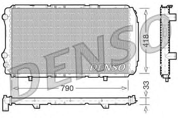 DRM09076 Радиатор системы охлаждения CITROEN: JUMPER c бортовой платформой/ходовая часть (230) 1.9 TD/2.5 D/2.5 D 4X4/2.5 TD/2.5