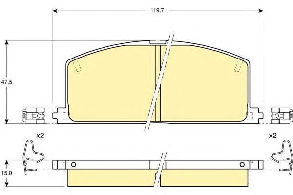 6103239 Колодки тормозные TOYOTA CAMRY/CARINA/COROLLA 83-92 передние