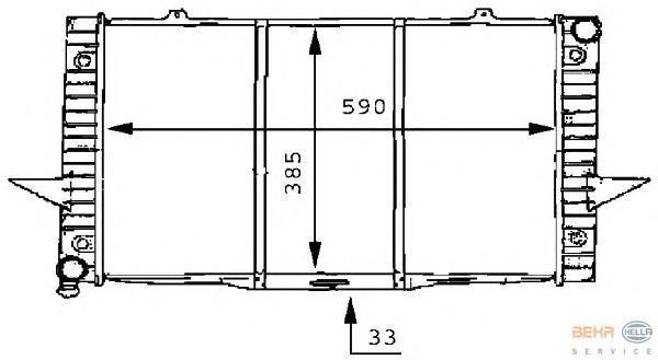 8MK376706751 Радиатор VOLVO 850/ C70/ S70/ V70