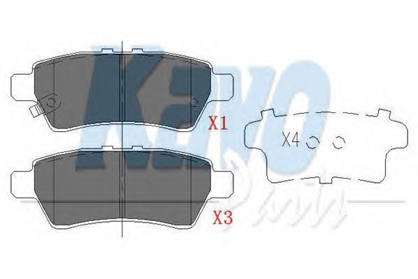 KBP6575 Колодки тормозные NISSAN PATHFINDER 05-/NAVARA 05- задние