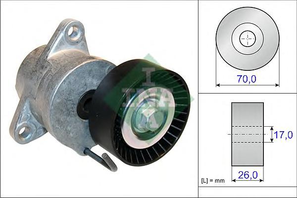 534043910 Натяжитель ремня приводного OPEL ASTRA/ZAFIRA/SAAB 9-5 2.0D 08-