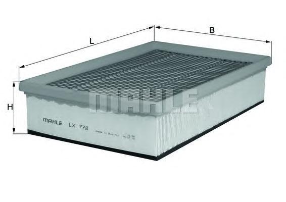 LX778 Фильтр воздушный BMW E65 730i/760i 03-