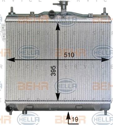 8MK376762001 Радиатор системы охлаждения HYUNDAI: GETZ (TB) 1.1/1.3/1.4/1.6 02-