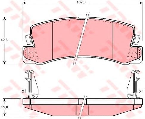 GDB3164 Колодки тормозные TOYOTA AVENSIS/CAMRY/CARINA/CELICA/COROLLA 86-03 задние