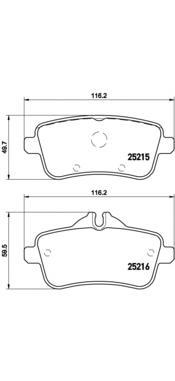 P50099 Колодки тормозные MERCEDES GL X166/ML W166 задние