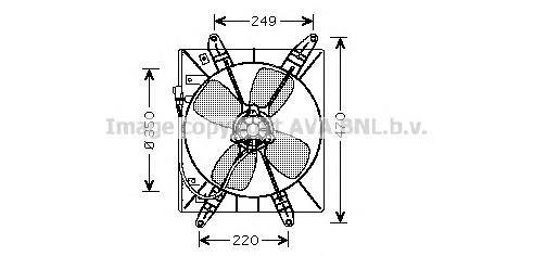 TO7513 Мотор вентилятора TOYOTA CAMRY 2.2 -96